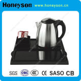 1.2L Stainless Steel Kettle with Melamine Tray for Hotel