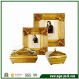 Luxury Golden Wooden Gift Picture Frame with Patterns