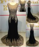 Embroidery Laces Luxury Ladies Party Evening Dress with Factory Price