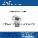 Zamak/Zinc Metal Alloy Die Casting Flagpole Mount Socket Parts