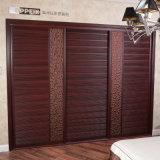 Oppein Modern Brown PVC Core Sliding Wardrobe (YG21337)