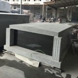 Granite Flat Roof Double Crypt Mausoleum