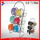 6PCS Glass Spice Jar Color Plastic Lid with Spice Rack