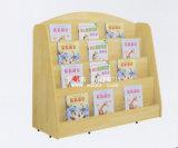 Children Wooden Library Wooden Shelf for Corner