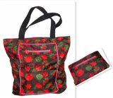 Ladies Flower Fashion Handy Tote Bag Color Zipper