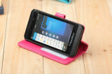 Stand Card Holder Wallet PU Case for Blackberry Z10 (SZ10001)