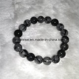 Fashion Gemstone Crystal Black Rultilated Quartz Beaded Bracelet Jewellery