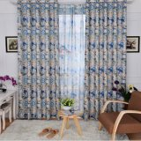 Flax Jacquard Curtain European Style Curtain (MM-104)