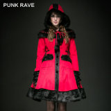Top Sale Sweet Woolen Red Coat with Hood (LY-045/RD)