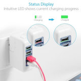 35W 4-Port USB Wall Charger with Us UK EU International Travel Adapter