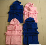 Cotton Velour Solid Color Bathrobes Towels for Kids (BR-12)