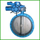 Electric Actuator Rubber Seat Concentric Type Flange Butterfly Valve
