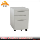 3 Drawer Pedestal Metal Mobile Filing Office Cabinet