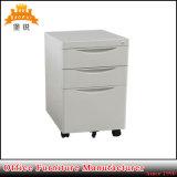 Steel 3 Drawer Metal Movable Pedestal Mobile Filing Office Cabinet