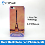 PC Smart Cell Mobile Phone Caso del OEM Customized Blue Film Coated Polycarbonate para el iPhone 5/5s