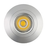 Lathe Aluminum Halogen GU10 MR16 Round Fixed Recessed Downlight LED (LT2106)