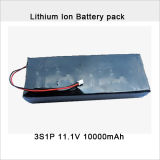 Rechargeable 11.1V 10ah Li-Polymer Battery Pack