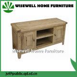 Solid Oak Two Door Wood TV Stand