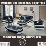 Golden Luxurious Wooden European Leather Sofa