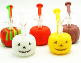 New Unique Design Pumpkin Shape Christmas Gift Silicone Bubbles, Silicone Water Pipe