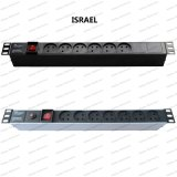 19 Inch Israel Type Universal Socket Network Cabinet and Rack PDU