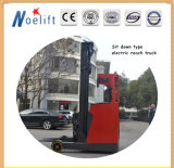 Seated Battery Stacker with 8000mm Lift Height with OEM Reach Forklift Truck