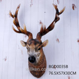 Large Size Interior Decoration Resin Deer Head Wall Hanging