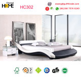 Double White Modern Leather Bed (HC302)