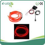 1m/2m 12V/24V Red EL Car Lights with Convertor