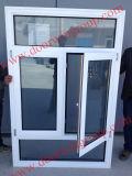 White Color Thermal Break Aluminium Teak Wood Casement Window