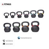 Direct Factory Garage Gyms Solid Cast Iron Power Coated Kettlebell