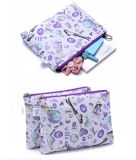 Fashion Nylon with Printing Cosmetic Bag with Two Pockets (KCC54)