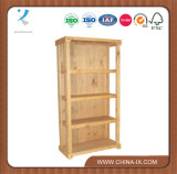 Wood Closed Back Shelving Unit with 3 Shelves