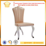 European Modern Design Stainless Steel Wedding Chair with Comfortable Leather Cushion