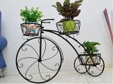 Home Decor Tricycle Plant Stand - Flower Pot Cart Holder - Ideal for Home, Garden, Patio - Great Gift for Plant Lovers, Housewarming. Esg10026