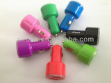High Quality Double USB Car Charger 5V 2.1A+1A Colored Mini 2 Ports Car Charger for Mobile Phone