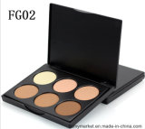 Contour Defining Powder 6 Color Highlighting Powder Pressed Cosmetic Foundation Powder