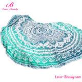 Wholesale High Quality Big Floral Printed Green Beach Mat