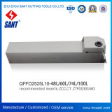 Parting & Grooving Tools Zhuzhou Sant Surface Grooving Tool Holder Qffd2525L10-48L Matched Inserts Ztfd0303-Mg