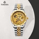 Shenzhen Timesea Watches Skeleton Automatic Watches with Stainless Steel Band72455