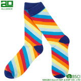 Rainbow Colorful Wholesale Custom Dress Crew Socks