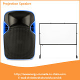 Portable PA Trolley LED Projection Speaker Box with Battery