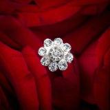 Sparkly Crystal Pearl Wedding Bouquet Jewelry Rhinestone Brooch Bouquet