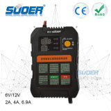 Suoer Intelligent Smart Fast Charger 6V 12V Automatic Battery Charger with Three Phase Charging Mode (A01-0612A)