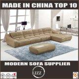 Simple Design Wood Frame Leather Sofa L Shape