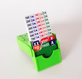 Bidding Cards Holder and Plastic Bidding Refill Cards