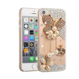 Pearl Rhinestone Crystal Cell Phone Case for iPhone Samsung