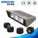 Tire Gauge Car Accessories, Solar Power, 4 Tyre External Sensors