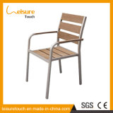 Wooden Arm Stool Metal Cafe Aluminum Restaurant Polywood Chair for Sale