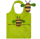 Foldable Shopping Eco-Friendly Bag Bag with 3D Pouch, Animal Bee Style, Reusable, Lightweight, Grocery Bags and Handy, Promotion, Accessories